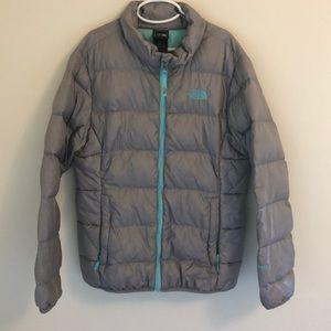 Girls North Face lightweight puffer jacket